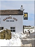 """SK2077 : Clearing snow outside """"The Barrel Inn"""", Bretton by Neil Theasby"""