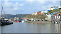 ST5772 : Cliftonwood from the Floating Harbour by Thomas Nugent