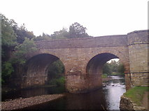 NY9650 : Bridge over the River Derwent at Blanchland by Robert Graham