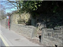 SE0424 : Entrance to the Mount of Remembrance, Burnley Road, Luddendenfoot by Humphrey Bolton