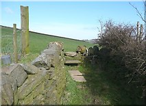 SE0320 : Stile on Ripponden Footpath 24 near Royd Lane by Humphrey Bolton