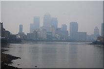 TQ3680 : View along the River Thames by N Chadwick