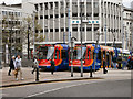 SK3587 : Trams at Castle Square by David Dixon