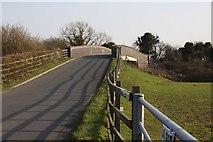 SU3890 : Denchworth Road Bridge over the railway by Steve Daniels