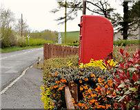 J2654 : Letter box, Drumlough near Hillsborough by Albert Bridge