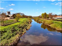 SE4843 : River Wharfe by Andy Farrington