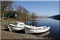 NT2321 : Boats at St Mary's Loch by Walter Baxter