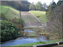 SK2890 : Damflask reservoir spillway by Rudi Winter