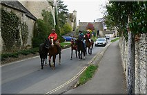 SP1106 : Ponies on the B4425, Arlington, Gloucestershire by Brian Robert Marshall
