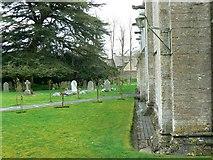SP1106 : North churchyard, Church of St Mary, Church Road, Bibury, Gloucestershire by Brian Robert Marshall