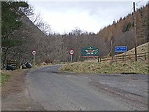 NO2875 : End of the public road, Glen Clova by Oliver Dixon