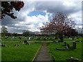 TQ2772 : Path in Streatham Cemetery by Marathon