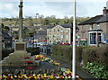 SK2956 : War memorial and village scene, Cromford by Andrew Hill