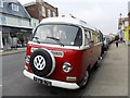 TM4656 : Red and white VW camper, Aldeburgh by nick macneill