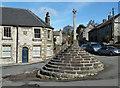 SK2758 : Village cross, Bonsall by Andrew Hill