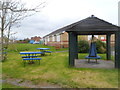 SS5198 : Picnic benches outside Bwlch Youth and Community Centre, Llanelli by Jaggery