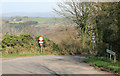 SX4172 : Narrow road with the Tamar valley beyond by roger geach