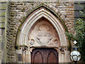 SD7833 : Nazareth Unitarian Chapel (detail) by David Dixon