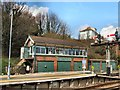 TQ8109 : Hastings Station signal box by Paul Gillett