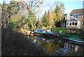 SU8053 : Basingstoke Canal - narrowboat by N Chadwick