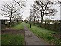 NZ2467 : A path leading to Little Moor by Ian S