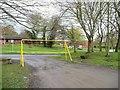 NZ1658 : Car park entrance, Stirling Lane by Christine Johnstone