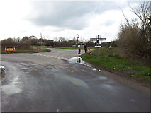 TM3886 : Road junction & village sign at Ilketshall St Andrew by Helen Steed