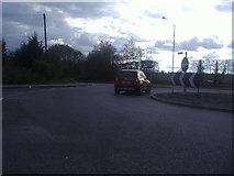 TQ6544 : Roundabout on Maidstone Road, Paddock Wood by David Howard