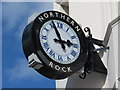 NZ2464 : Clock on Northern Rock, Northumberland Street / Ridley Place, NE1 by Mike Quinn