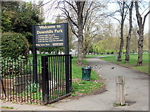 TQ3289 : Entrance to Downhills Park by Christine Westerback