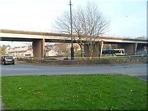 SH4862 : A487 flyover, Caernarfon by Jaggery