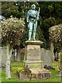 NS4076 : The John Proudfoot Memorial by Lairich Rig