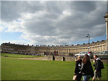 ST7465 : View of Royal Crescent from the green by Robert Lamb