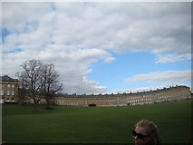 ST7465 : View of Royal Crescent from the green #2 by Robert Lamb