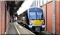 J3473 : Larne line train, Central station, Belfast by Albert Bridge