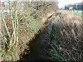 SH5639 : Porthmadog: Y Cyt viewed from a footbridge by Jaggery