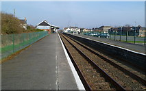 SH5639 : Porthmadog railway station viewed from the west by Jaggery