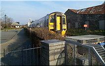 SH5639 : Train leaving Porthmadog - next stop Minffordd by Jaggery