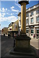 ST5515 : Column marking the Millennium, Yeovil by Christopher Hilton