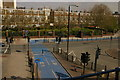 TQ3780 : Cycle superhighway, Poplar, from the DLR by Christopher Hilton
