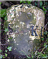 SD6283 : Milestone with bench mark on the A683 just north of Barbon by Karl and Ali