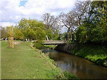 TQ2172 : Bridge over Beverley Brook by Robin Webster
