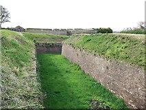 TQ7668 : Defensive ditch, Fort Amhurst by David Anstiss