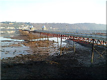 SH5873 : Side view of Bangor Pier by Jaggery