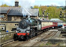 NZ8205 : The Green Knight Leaves Grosmont by Mary and Angus Hogg