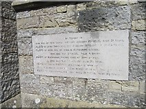 ST4636 : Memorial in the wall by Bill Nicholls