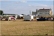 SP7047 : Towcester Racecourse grandstand by Philip Jeffrey