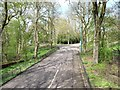 SD8304 : Tramway and road crossing, Heaton Park by Christine Johnstone