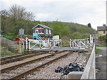 SE7365 : Level crossing gates re-opening at Kirkham by Pauline E