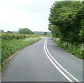 ST3797 : Double white lines on the road from Llangybi to Usk by Jaggery